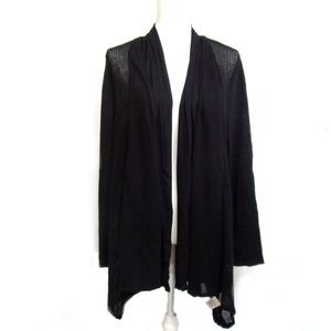 Style & Co Pointelle Trim Cardigan Size 1X Black